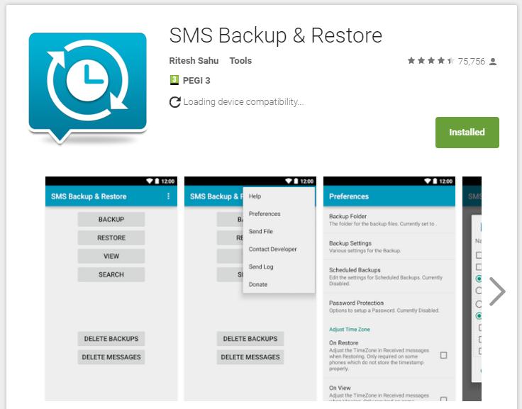 sms backup & restore app