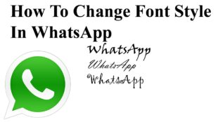 change whatsapp font style android