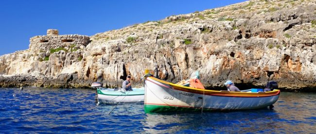 Blue Grotto Cave Lake