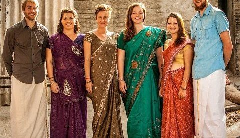 Image result for foreigners in india dress