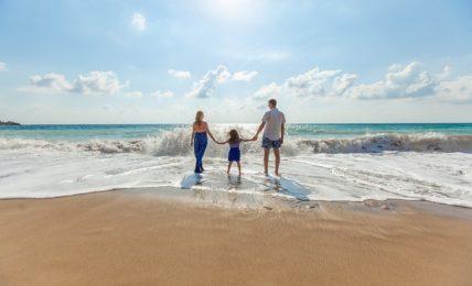 beach family holiday