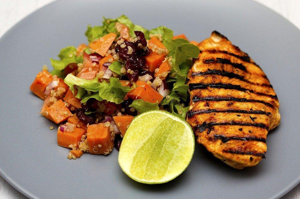 Grilled Chicken, Quinoa, Salad, Photography, Grain